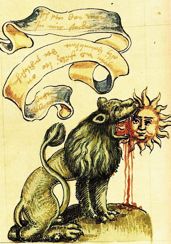Een embleem uit de alchemie (16e eeuw)