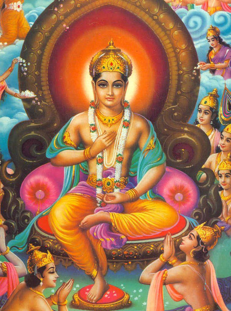 De Boeddha op jongere leeftijd